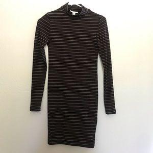 TOPSHOP stripe bodycon Dress